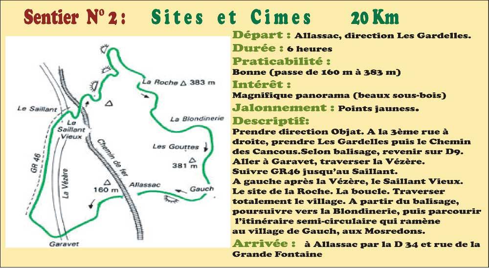 Activités - Sentiers pédestres - Sentier n°2