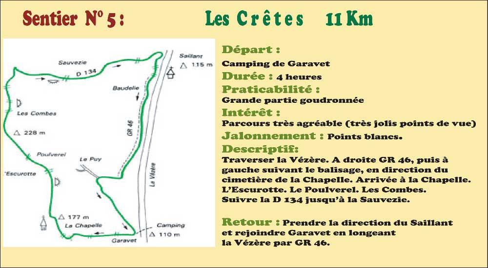 Activités - Sentiers pédestres - Sentier n°5