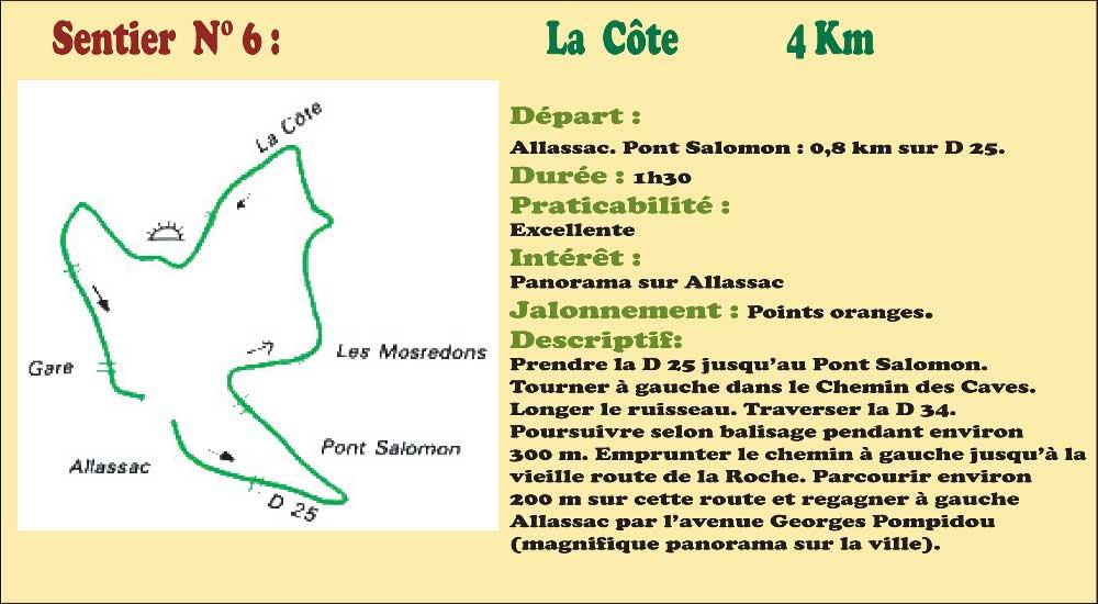 Activités - Sentiers pédestres - Sentier n°6