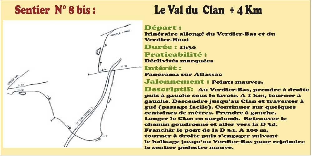 Activités - Sentiers pédestres - Sentier n°8 bis